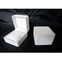 China Personalized Plastic Watch Boxes Handmade , High End Watch Box White Color on sale