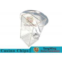 China Acrylic HD Transparency Poker Card Holder , Anti - Fade Dealers Card Holder  wholesale