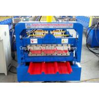 China High Speed Steel Roofing Sheet Roll Forming Machine with Flying Cutting wholesale