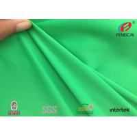 China Green Jacquard Knitted Polyester Spandex Fabric Sportswear Material UV Resistant wholesale