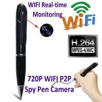 Buy cheap 720P HD WIFI P2P Pen Spy Hidden Camera Covert Video Streaming Recorder Home Security Nanny Camera Remote Baby Monitor from wholesalers