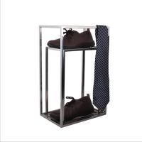 China Smooth Design Stainless Steel Metal Box Frame , Tie Scarf Display Rack Without Injuring Hands on sale