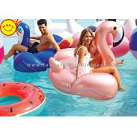 Buy cheap Summer Water Toys Inflatable Rose Gold Flamingo Pool Floats 150cm Float Flamingo Raft product