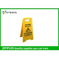 Quality Yellow Plastic Caution Sign Board / Portable Sign Stands Eco Friendly 62x30cm for sale