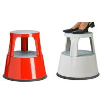Quality Easy to move plastic rolling kick stool safety steep stool for sale