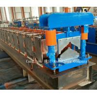 China Ridge Cap Chain Driven Roll Forming Machine 350H Steel With Hydraulic Cutting wholesale