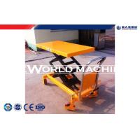 China Customized Hand manual lift table Double Scissiors , hydraulic lift platform trolleys on sale