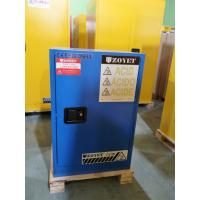 China Blue Corrosive Chemical Acid Storage Cabinet Flammable Locker Single Door wholesale