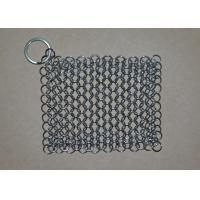 Buy cheap Rectangular Chainmail Cast Iron Pan Scrubber Stainless Steel Wire Scrubber from wholesalers