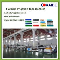 Buy cheap 16mm*0.15mm Flat drip irrigation tape production line factory price product