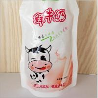 China 250ml Fresh Milk Standing Pouches Top Spout Beverage Pouch With Clear Window on sale