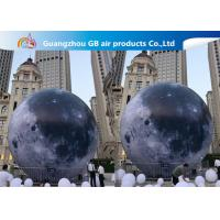 China Custom 5m Inflatable Lighting Decoration Lighted Moon Ball For Outdoor wholesale