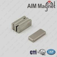 China Color-Zinc coated NdFeB square block permanent magnets D10x2.5x0.5mm wholesale