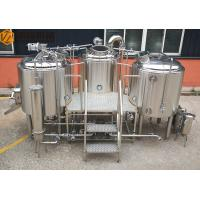 Quality Stainless Steel Beer Making System 500L Capacity Brewhouse Steam Heating for sale