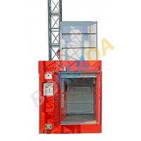 China 3200kg Blue Twin Cage Industrial Lift with Hot Dipped Zinc , High Reliability wholesale