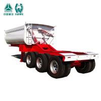 China Multi Color Farm Tipping Trailer , Leaf Spring Heavy Duty Tipper Trailer wholesale