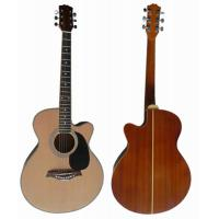 China handmade 40 inch Sapele Back Wood Acoustic Guitar with 5 line rosette AF4020C wholesale