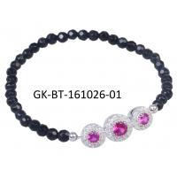 China Exquisite craftsmanship 925 sterling silver jewellery agate beads bracelet anniversary, engagement, gift wholesale
