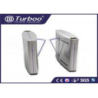 China Double Anti - Clipping Access Control Turnstile Gate Retractable Flap Barrier wholesale