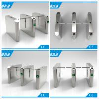 China Office Entrance Stainless Steel Drop Arm Turnstile With 560mm Passage Width wholesale