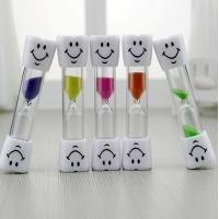 Buy cheap 3 Minutes Hourglass Kids Toothbrush Timer Smiley Sand Timer 3 Minutes Timer ON from wholesalers