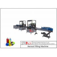 China 52mm-65mm Aerosol Filling Line With Aerosol Spray Filling Machine And Automatic Ball Dropper wholesale