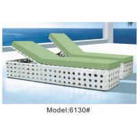 China 2 person rattan swimming pool chaise lounger / wicker sun lounger sunbed dayday---6130 wholesale