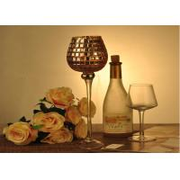 China Stemware Mosica Vintage Glass Candle Holders For Wedding Eco Friendly wholesale