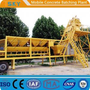 China AC 380V 50HZ HZS25 25m³/h Mobile Concrete Batching Plant wholesale