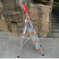 China wide 4 steps household foldable aluminum ladder with handrail YM304 wholesale