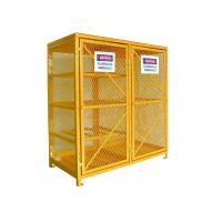 China Vented Gas  Cylinder Storage Cabinets 8 Horizontal 9 Vertical 5 Shelves Yellow Color wholesale
