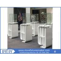China Oem manufacturing good price wooden glass white color perspex display stands with locks wholesale