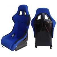 China Fabric + Blk Fiber Glass Bucket Racing Seats With Belt Harness Holes wholesale