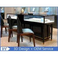 Quality Simple Nice Black Color Jewelry Counter Display With Cabinets for sale