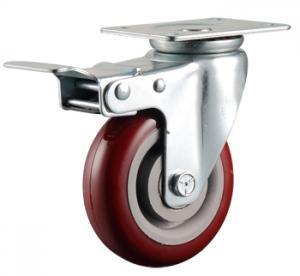 China Medium Duty Casters Polyurethane on Polyolefin Wheel  Total Lock Brake wholesale