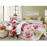 China Polyester Cotton Blend 4 Piece Bedding Set Embroidered Flower Printed wholesale