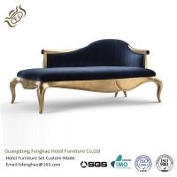 China Luxury Gilding Upholstered Indoor Chaise Lounge Chair For KTV / Hotel Lobby wholesale