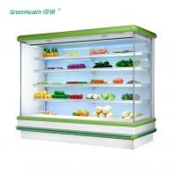 China Commercial Supermarket Outdoor Multideck Open Chiller / Fruit And Veg Display Fridge wholesale