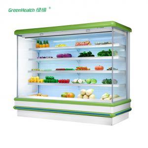 China Commercial Supermarket Outdoor Multideck Open Chiller / Fruit And Veg Display Fridge wholesale