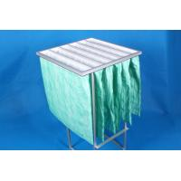 China Green F6 Paint Pocket Filters , 6 Bags Air Filter Material 65% Efficiency wholesale