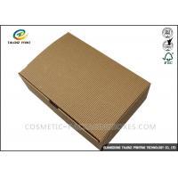 China Folding Shoes Custom Corrugated Boxes 1mm 1.5mm Rigid Cardboard Thickness wholesale