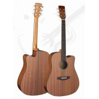 China 41inch Classic Whole Sapele Western Guitar / Vintage Wood Acoustic Guitar For Learners TP-AG52-1 wholesale
