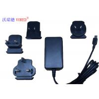 China 18W 12V Interchangeable Power Supply For Network Switch 1.5m Cable Length wholesale