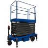 China 24V Mobile Scissor Lift Manganese Steel Motorized Hydraulic Lift wholesale
