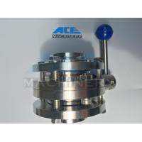 China Sanitary Butterfly Valve with Stainless Steel Multi-Position Handle (ACE-DF-3A) wholesale