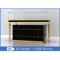 China OEM Jewelry Showcase Display Pull - Out Drawers With Lights And Locks wholesale