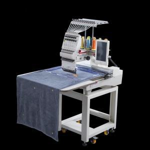 Buy cheap Cap / Flat / Garment Computerized Single Head Embroidery Machine All Servo Motor from wholesalers