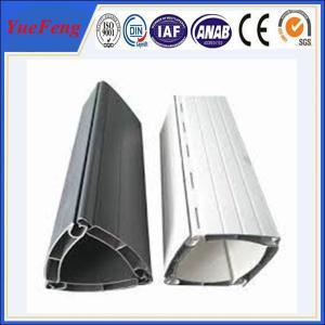 China White powder coating aluminum shutter door profile wholesale