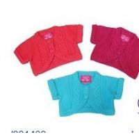 China Summer Green / Red Short Sleeve Cardigan Cotton Knitting Patterns Kids Sweaters on sale