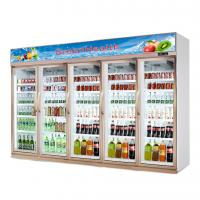 China Glass Door Upright Commercial Beverage Refrigerator For Supermarket wholesale